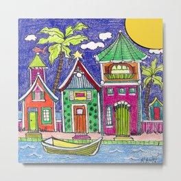 Seaside Villas  Metal Print