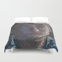john green Duvet Covers featuring John by br0-harry