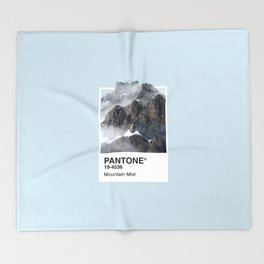 Pantone Series – Mountain Mist Throw Blanket