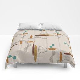 Mid-Century Modern Suspended Ovals Comforters