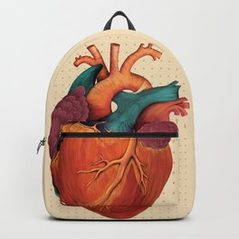 Anatomical Human Heart - Textbook Color Backpack