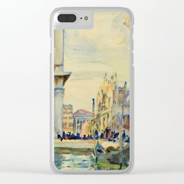 John Singer Sargent - The Piazzetta.Venice Clear iPhone Case