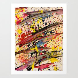 Abstract Spatter Art Print