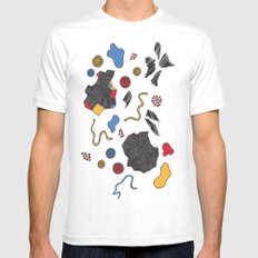 doodle conversation White MEDIUM Mens Fitted Tee