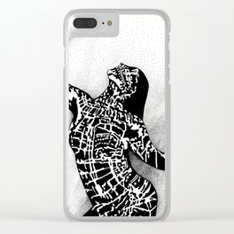 Girl In Shadow Clear iPhone Case