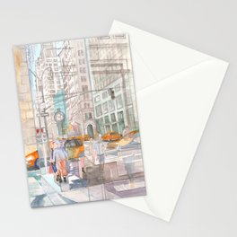 Reflection in the New York City windows II Stationery Cards