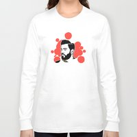hipster Long Sleeve T-shirts featuring hipster by mark ashkenazi
