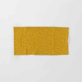 Mustard Paint Drops Hand & Bath Towel