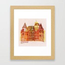 Letterpress Castle 3 Framed Art Print