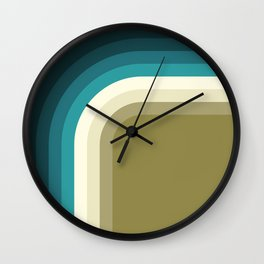 Graphic 876 // Cool & Drab Bend Wall Clock