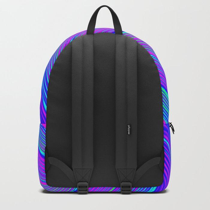 Blue Pink Stripes Backpack