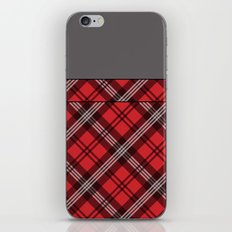 Scottish Plaid (Tartan) - Red iPhone & iPod Skin