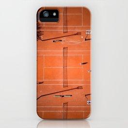 Tennis court orange iPhone Case