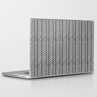 herringbone Laptop & iPad Skins featuring Herringbone Black by Project M