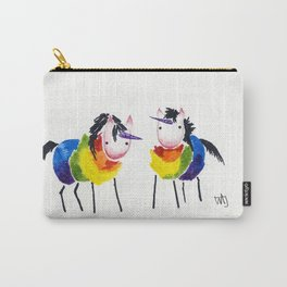 Little Rainbow Unicorns Carry-All Pouch