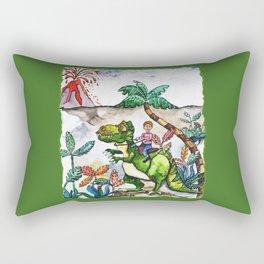 Dinosaur Rider Rectangular Pillow