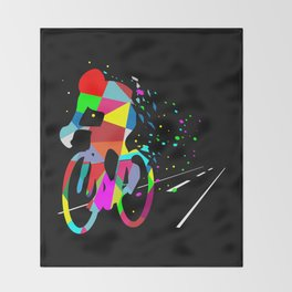 Cycling Forever | Colorful Speed Throw Blanket