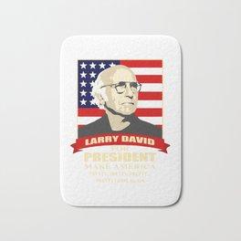 LARRY DAVID FOR PRESIDENT Bath Mat