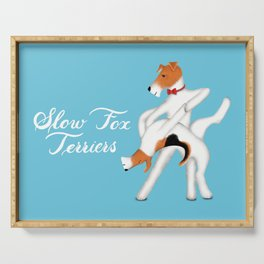 Slow Fox Terriers Serving Tray