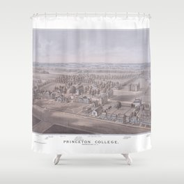 PRINCETON College map NEW JERSEY dorm decor graduate Shower Curtain