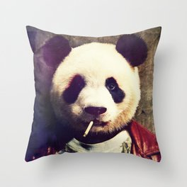 Panda Durden Throw Pillow
