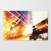 fallout Canvas Prints featuring Fallout by Jared Plock