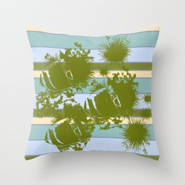 Sea Urchins & Angel Fish Throw Pillow