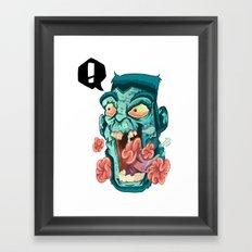 Zombie. Framed Art Print