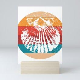 Vintage Oyster Lover Retro Shellfish Silhouette Gift Mini Art Print