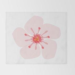 Sakura flower Throw Blanket