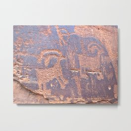 Native Indian Rock Art Metal Print