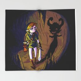 Link and the Imp Throw Blanket