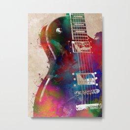 Guitar art 14 #guitar #music Metal Print