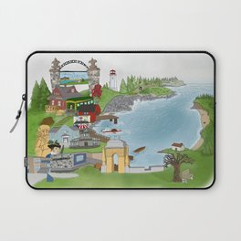 Louisbourg Illustrated in Color Laptop Sleeve