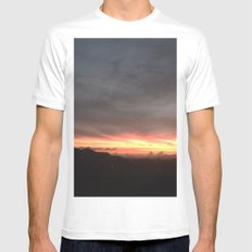Fired Horizons White Mens Fitted Tee MEDIUM