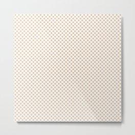 Apricot Illusion Polka Dots Metal Print