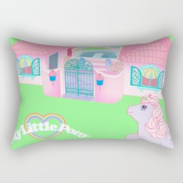 g1 my little pony the movie 1986 movie tribute poster Rectangular Pillow
