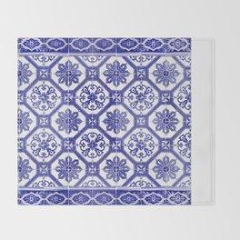 Portuguese tiles Throw Blanket