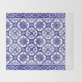 Portuguese tiles Throw Blanket