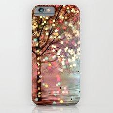 Surreal Fantasy Fairy Tale Aqua Pink Sparkling Fairylights Nature Trees iPhone 6s Slim Case