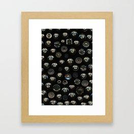 Transparent Buttons Scanograph Framed Art Print
