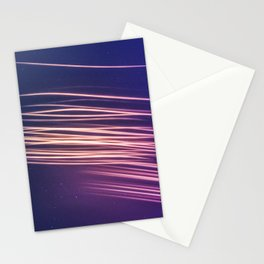 Meteor Shower Streaking Across the Night Sky Stationery Cards
