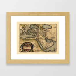 Map Of The Middle East 1600 Framed Art Print