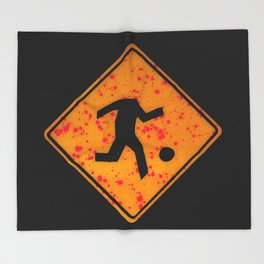 headless soccer player Throw Blanket