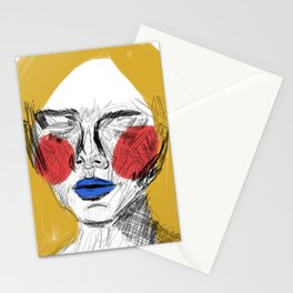 Red cheeks Stationery Cards