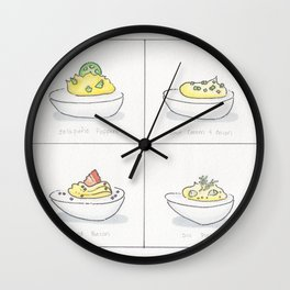 Deviled Egg Options Wall Clock