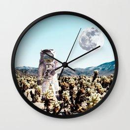 Collage, Astronaut, Desert, Moon, Creative, Nature, Modern, Trendy, Wall art Wall Clock