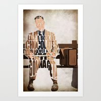 forrest gump Art Prints featuring Forrest Gump by Ayse Deniz