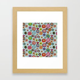 summer flowers multi sky Framed Art Print