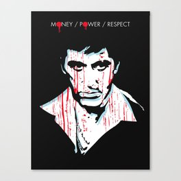 Scarface movie portrait Canvas Print